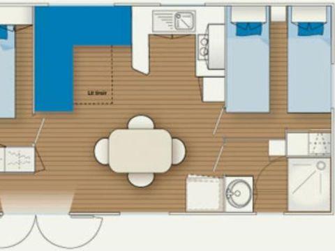 MOBILHOME 4 personnes - CONFORT, FLORES PLUS - 2 chambres