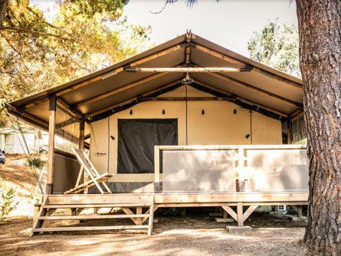 TENTE TOILE ET BOIS 4 personnes - Tente Lodge - Sans sanitaires - Arrivée le mercredi