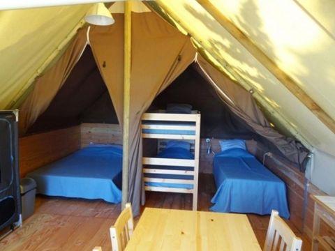 TENTE TOILE ET BOIS 4 personnes - Tente Lodge - Sans sanitaires - Arrivée le samedi