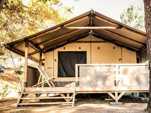 TENTE TOILE ET BOIS 5 personnes - Corsica Lodge 3 Pièces climatisé