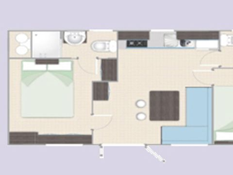 APPARTEMENT 5 personnes - MOBILE HOME HAPPY PREMIUM at the harbor