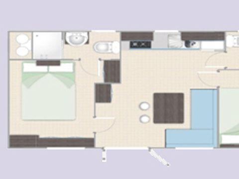 MOBILHOME 4 personnes - MOBILE HOME HAPPY PREMIUM