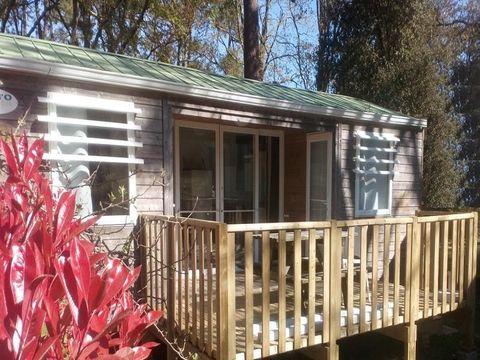 MOBILHOME 4 personnes - PREMIUM 2 chambres & 2 salles de bain 33 m² terrasse semi-couverte