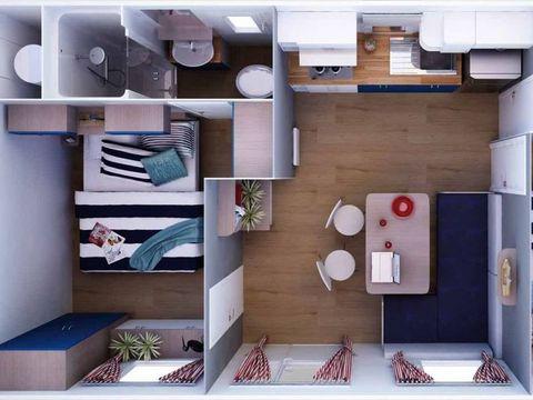 MOBILHOME 6 personnes - DALMACIJA 2 chambres + TV