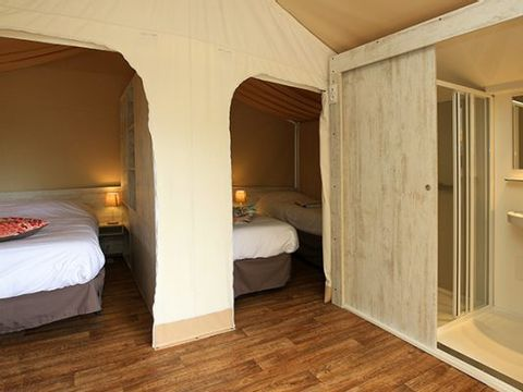 TENTE TOILE ET BOIS 4 personnes - Lodge Maasai (MA4)