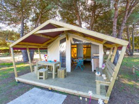 TENTE TOILE ET BOIS 5 personnes - Lodge FreeFlower Confort+