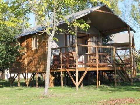 TENTE TOILE ET BOIS 5 personnes - Cabane Lodge