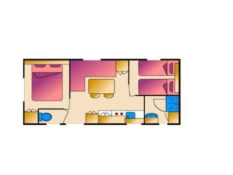 MOBILHOME 4 personnes - 4 PLACES, 2 chambres