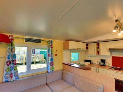 MOBILHOME 6 personnes - GRAND CONFORT 3 chambres + Clim/terrasse