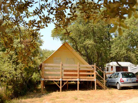 TENTE TOILE ET BOIS 4 personnes - Lodge confort Safari, 2 chambres (sans sanitaires)