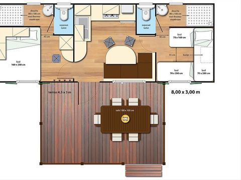 MOBILHOME 5 personnes - SunLodge Maple