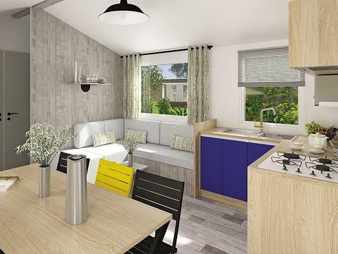 MOBILHOME 8 personnes - VIP Family 4 chambres, 2 salles de bain