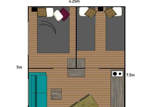 TENTE TOILE ET BOIS 4 personnes - Lodge tente - sans sanitaire