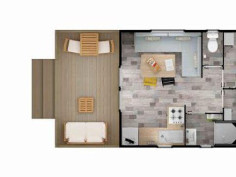 MOBILHOME 4 personnes - Terrasse intégrée