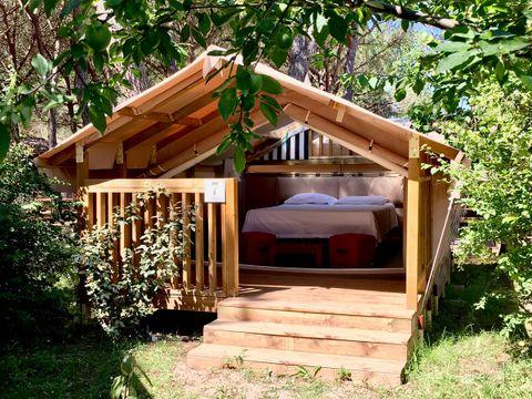 TENTE TOILE ET BOIS 2 personnes - Mini Lodge Tent