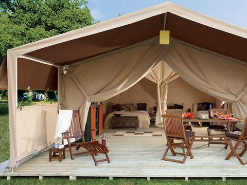 TENTE TOILE ET BOIS 6 personnes - Tente safari XL