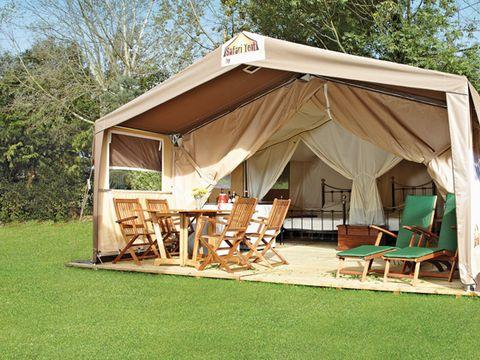TENTE TOILE ET BOIS 5 personnes - Tente safari, sans sanitaires