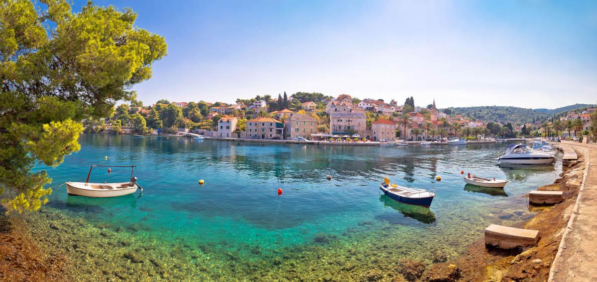 Splitska Brac Island Kroatie