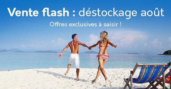 Vente flash déstockage août